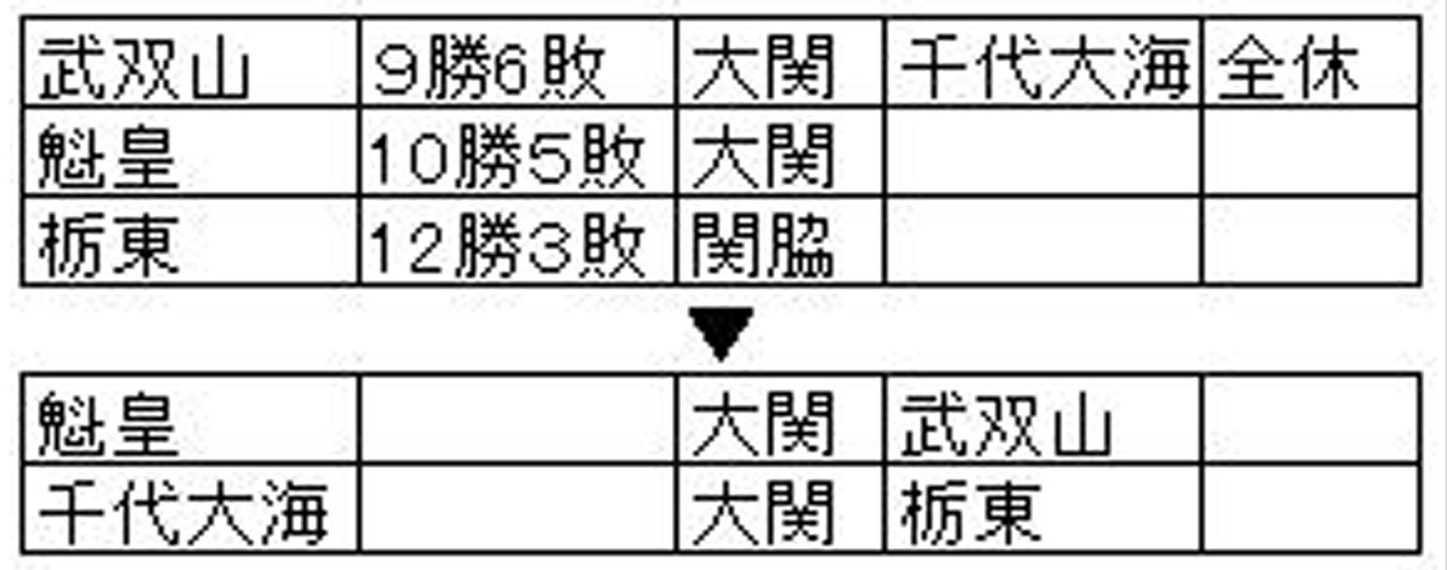 栃東の位置A